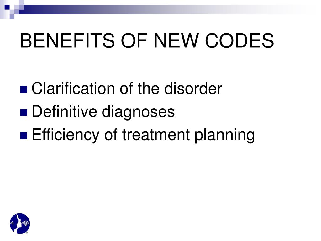 BENEFITS OF NEW CODES