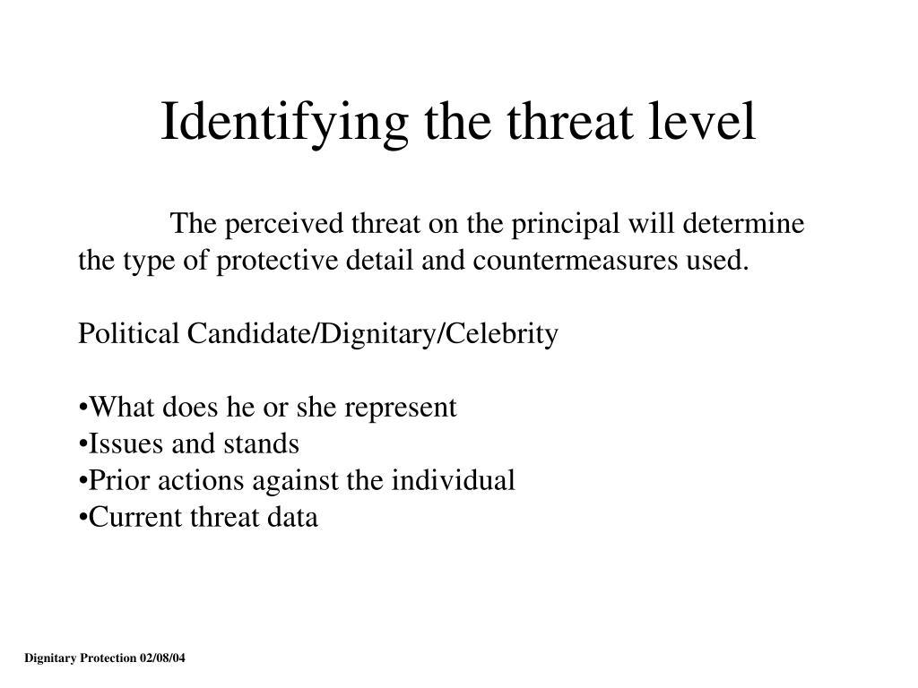 Identifying the threat level