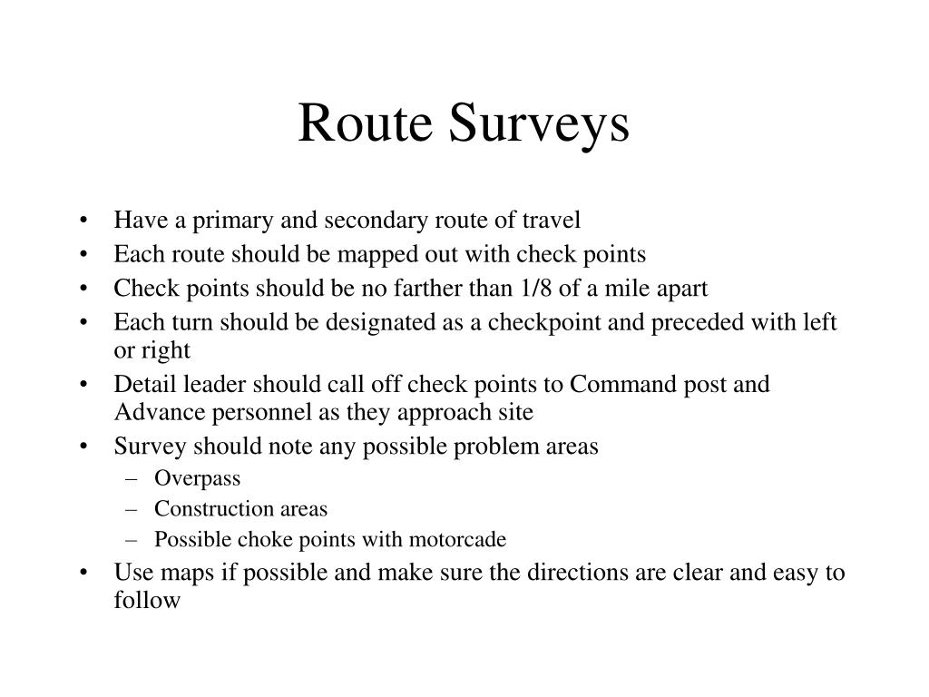 Route Surveys