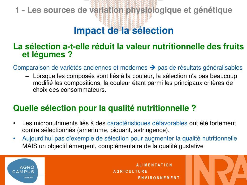 La sélection a-t-elle réduit la valeur nutritionnelle des fruits et légumes ?