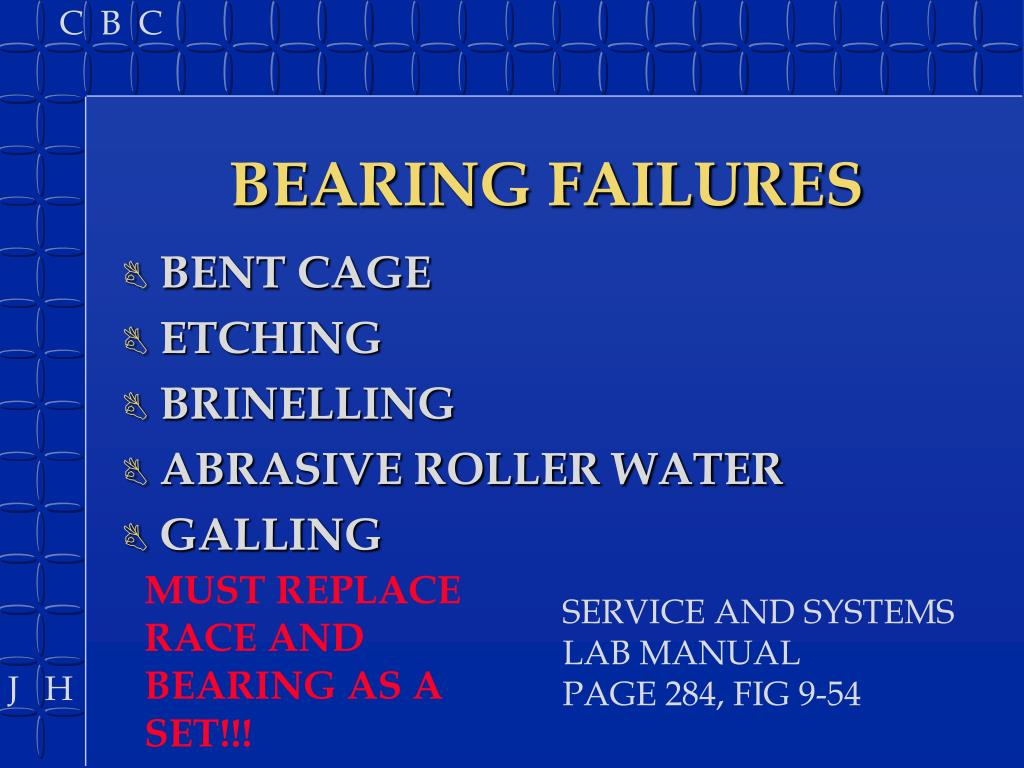BEARING FAILURES
