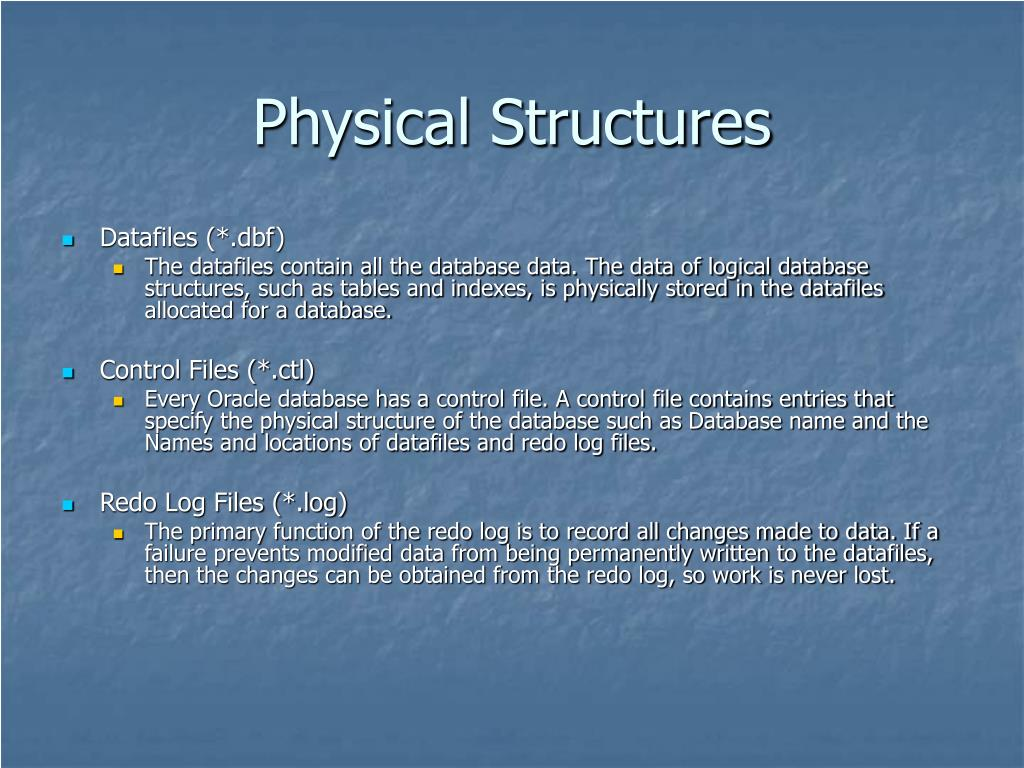 Physical Structures