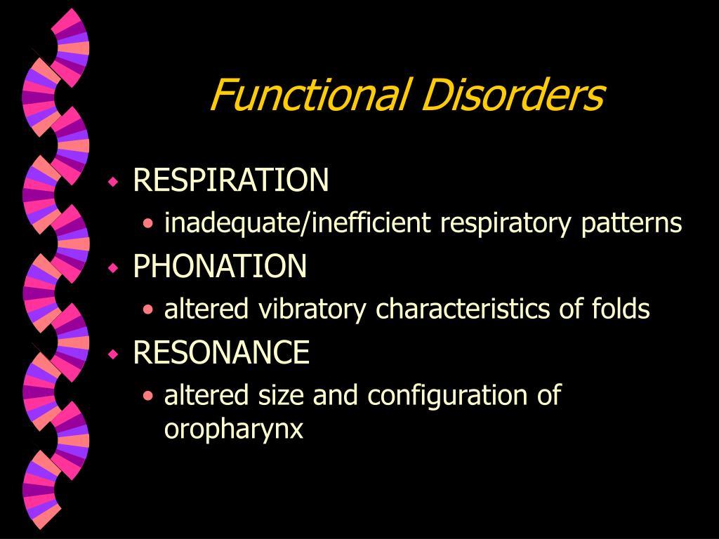 Functional Disorders