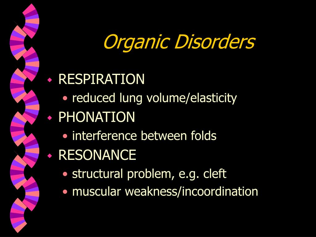 Organic Disorders
