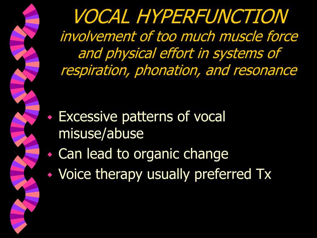 VOCAL HYPERFUNCTION