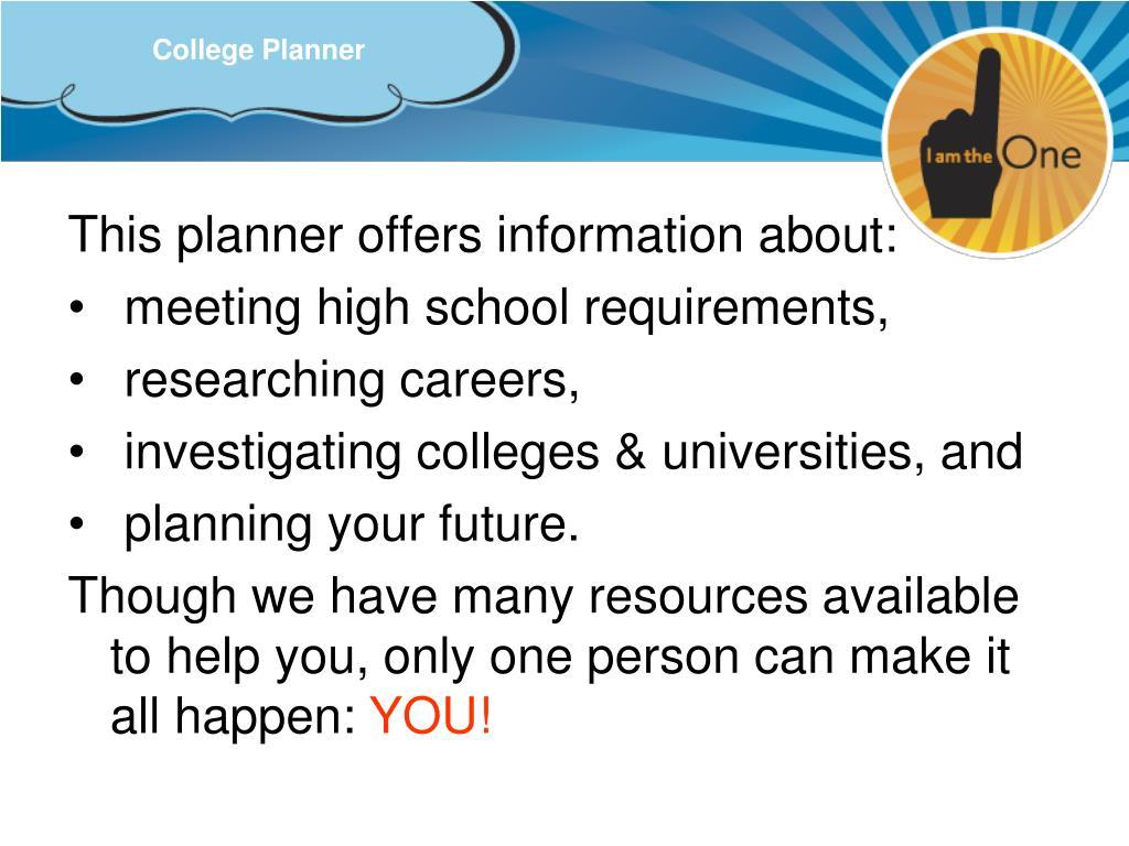College Planner
