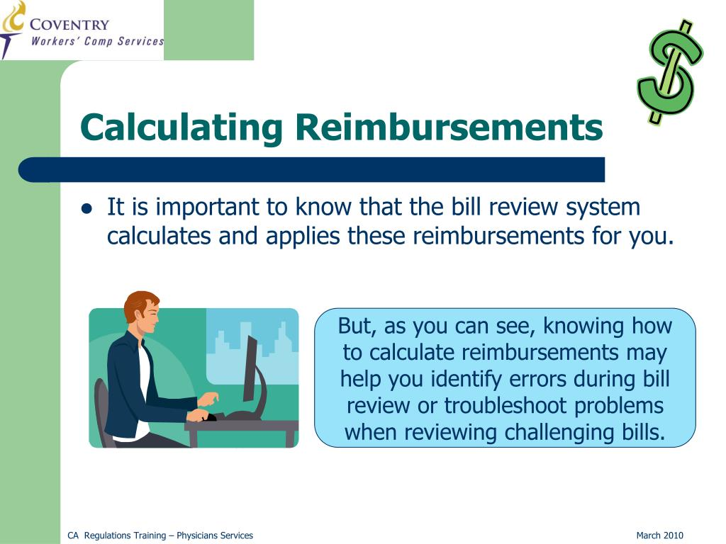 Calculating Reimbursements
