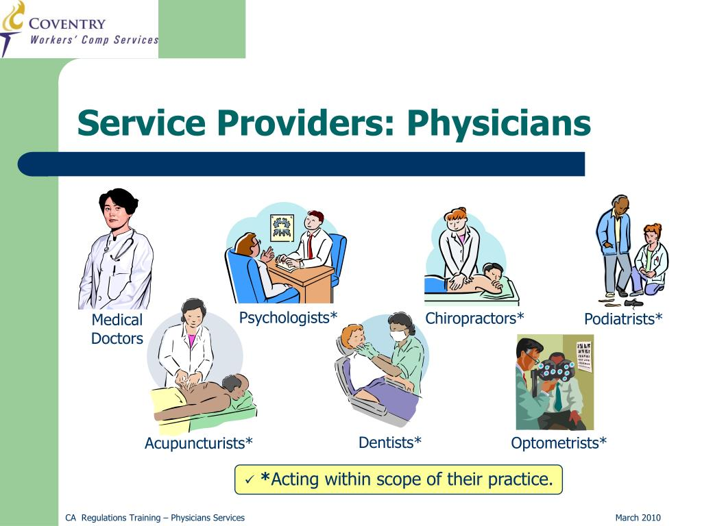 Service Providers: Physicians