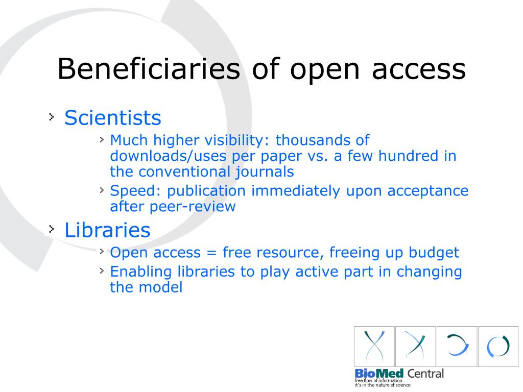 Beneficiaries of open access
