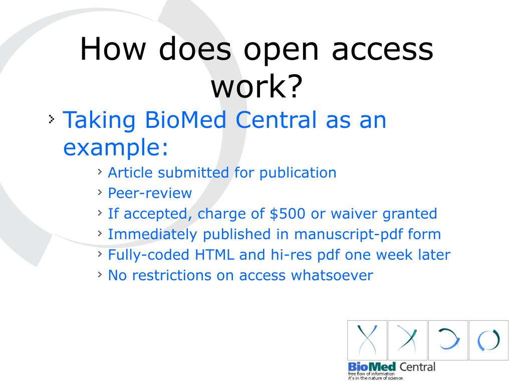 How does open access work?