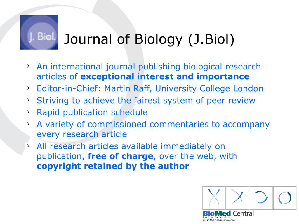 Journal of Biology (J.Biol)