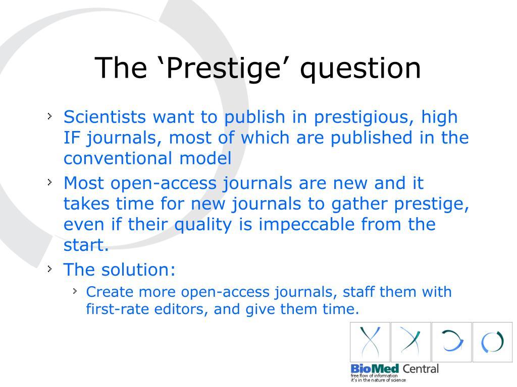 The 'Prestige' question