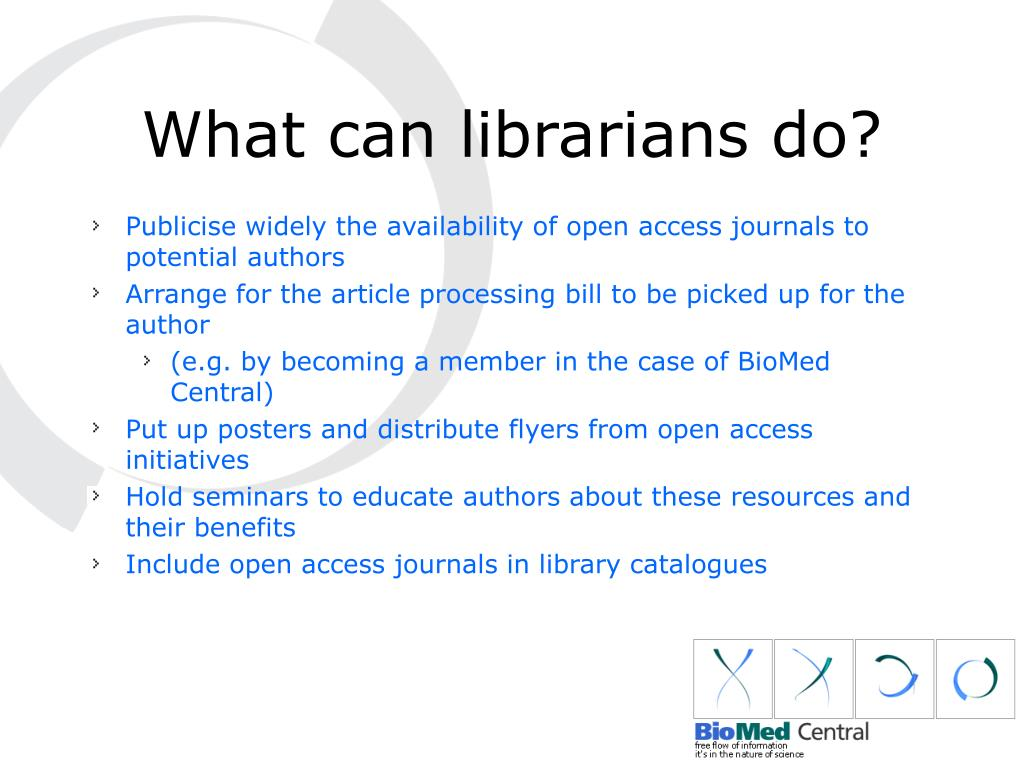 What can librarians do?