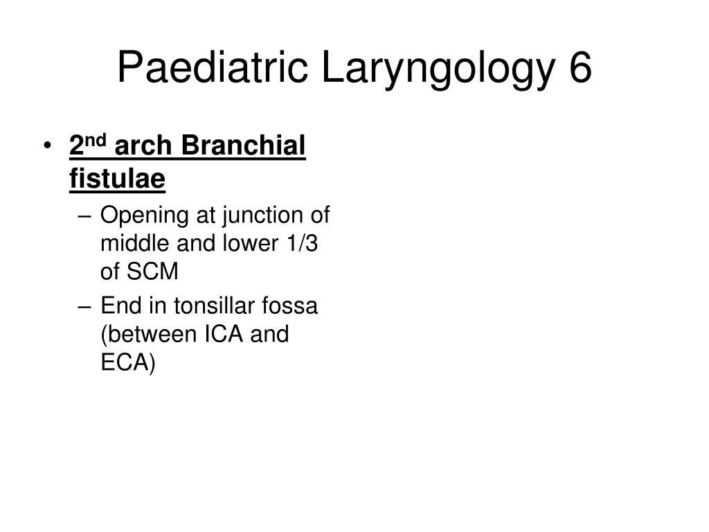 Paediatric Laryngology 6