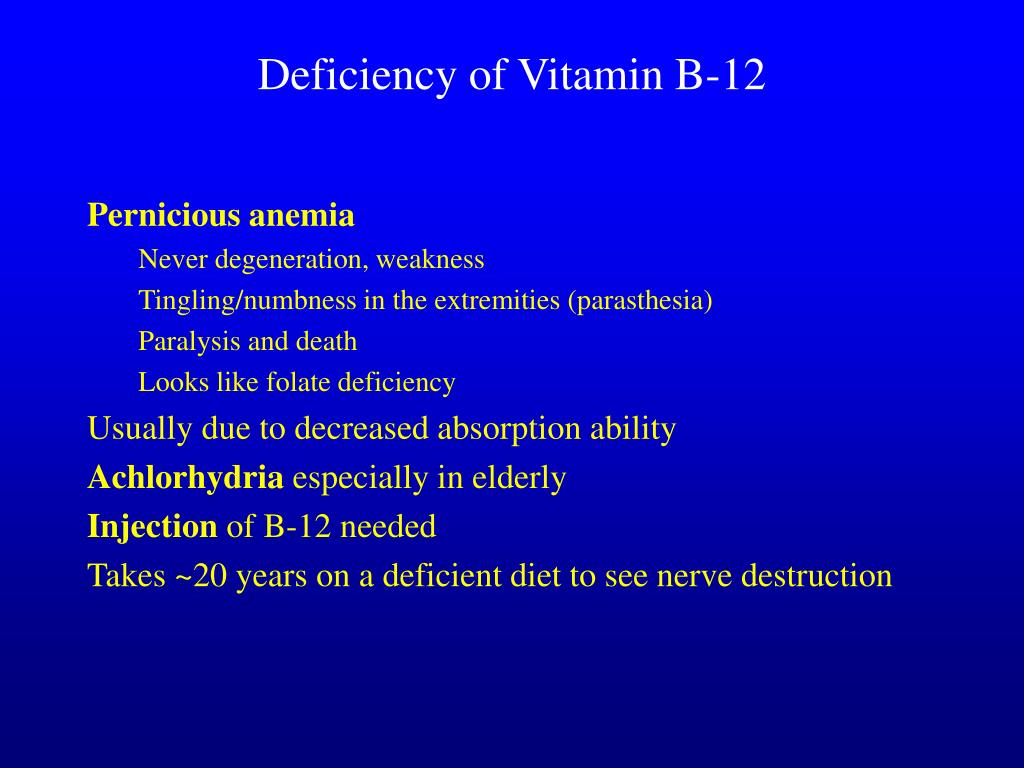 Deficiency of Vitamin B-12