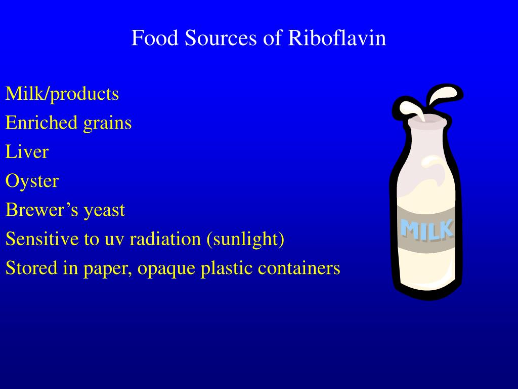 Food Sources of Riboflavin