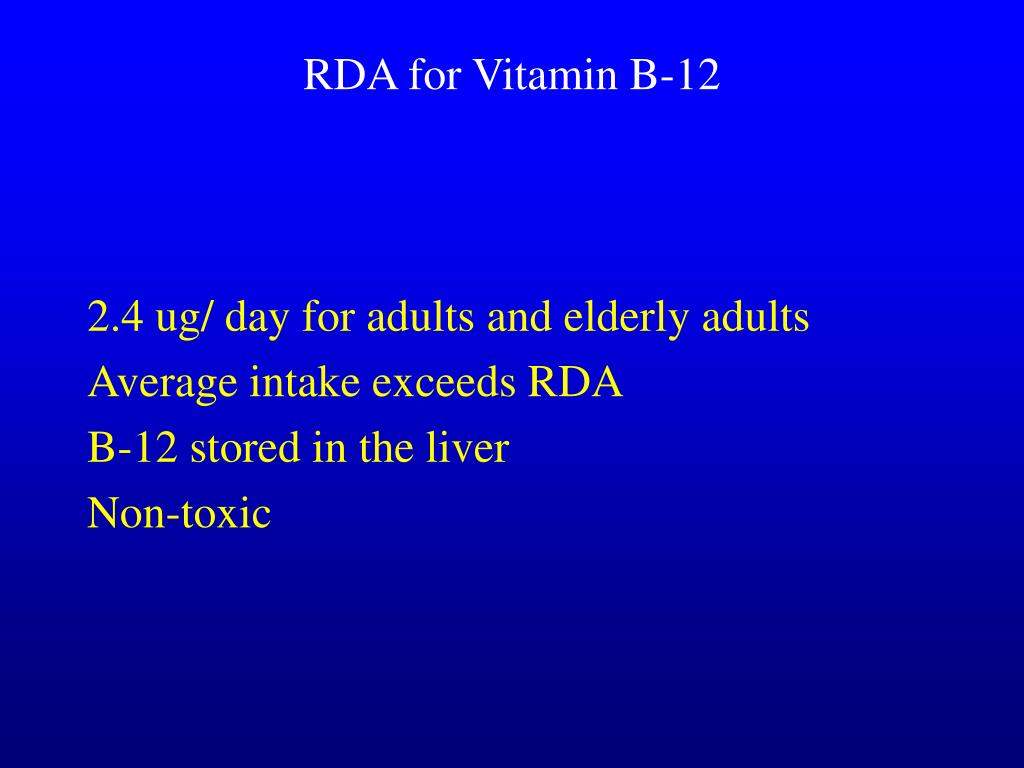 RDA for Vitamin B-12