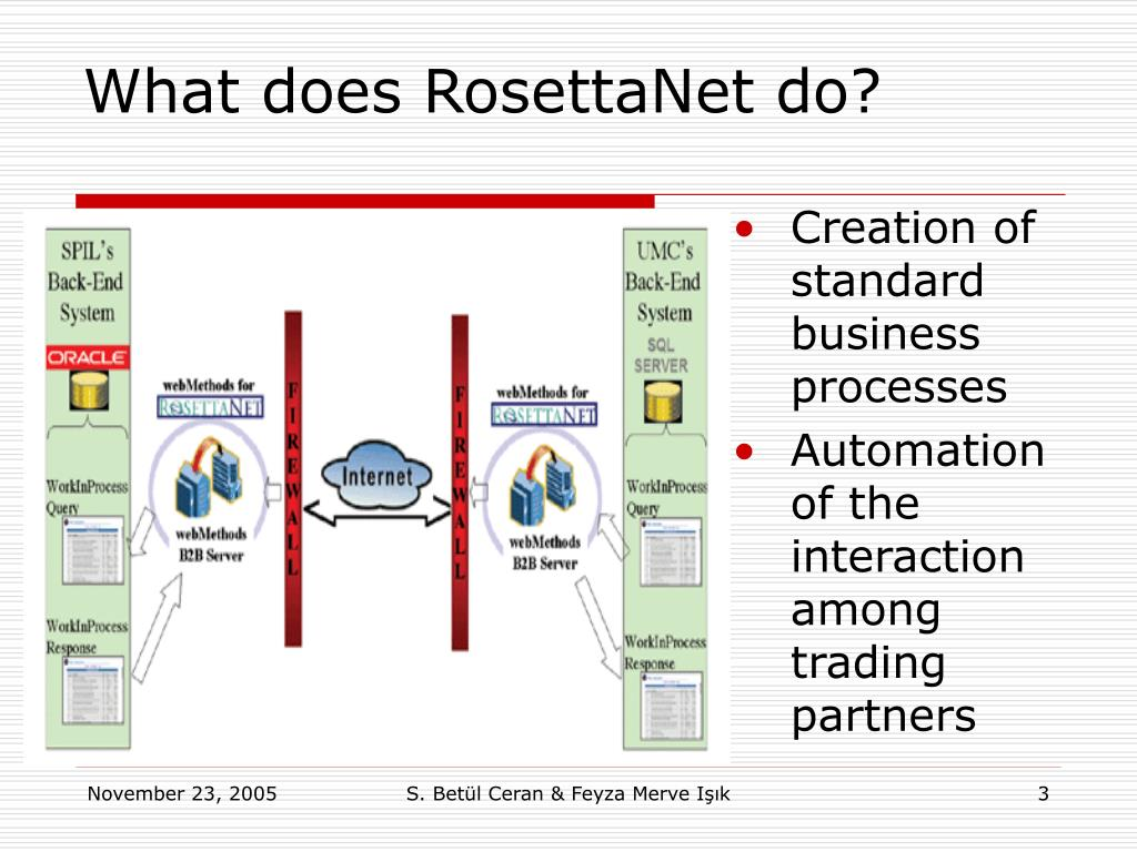 What does RosettaNet do?