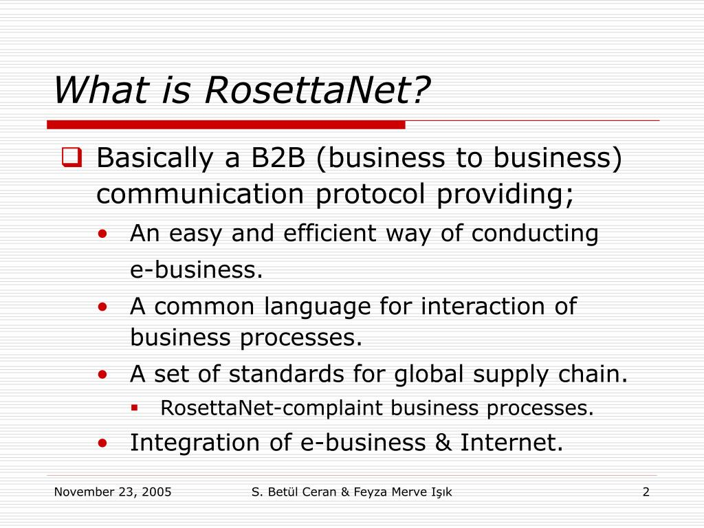 What is RosettaNet?