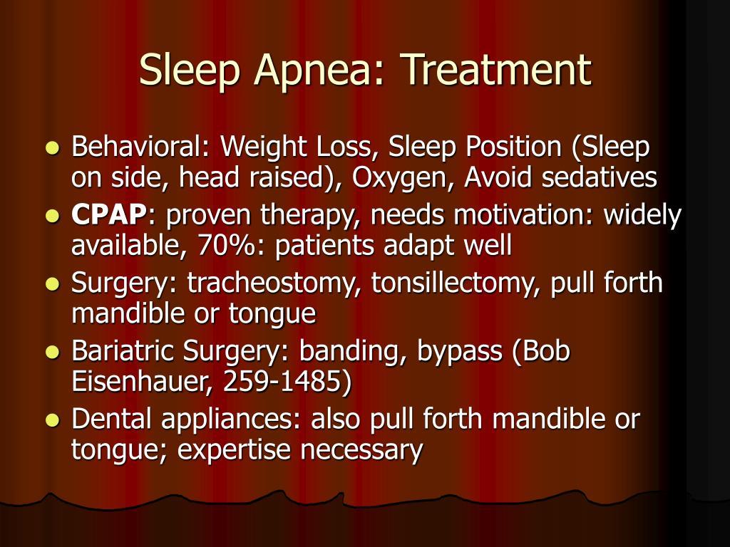 Sleep Apnea: Treatment