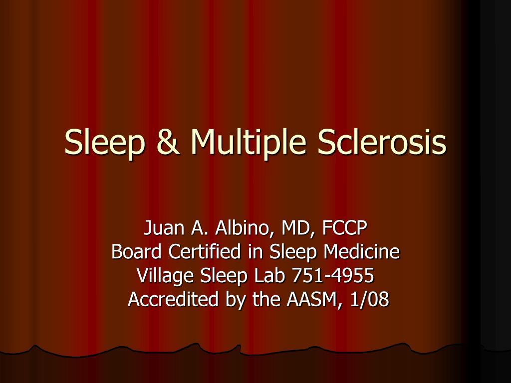 Sleep & Multiple Sclerosis