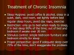 treatment of chronic insomnia