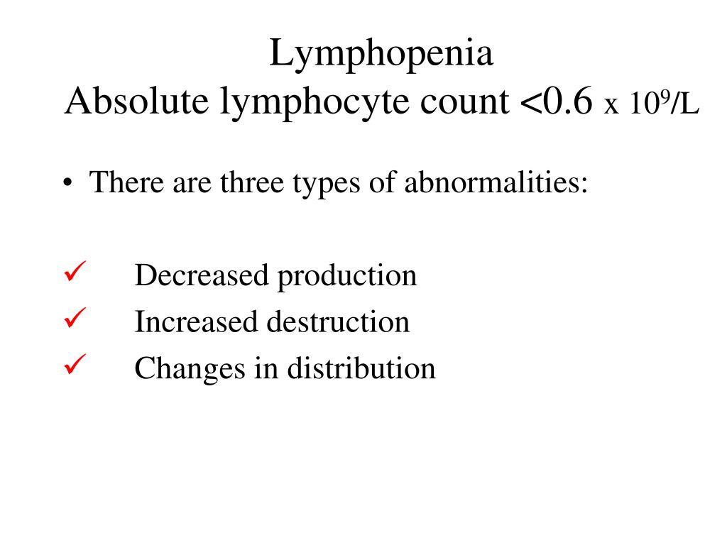 Lymphopenia