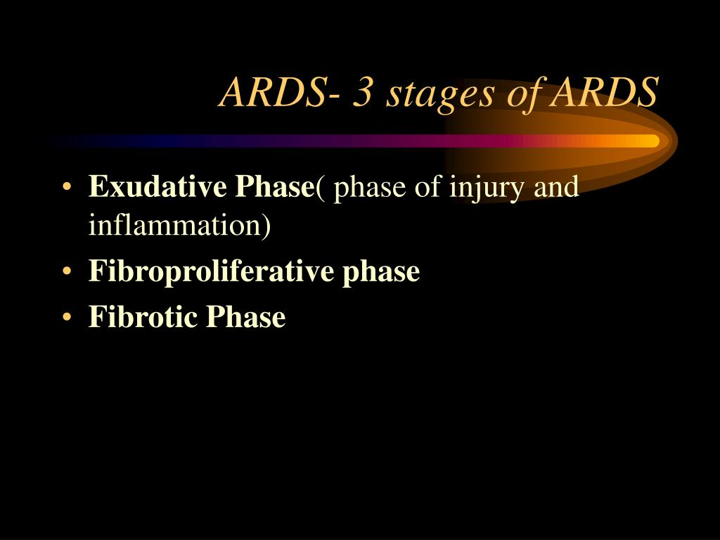 ARDS- 3 stages of ARDS