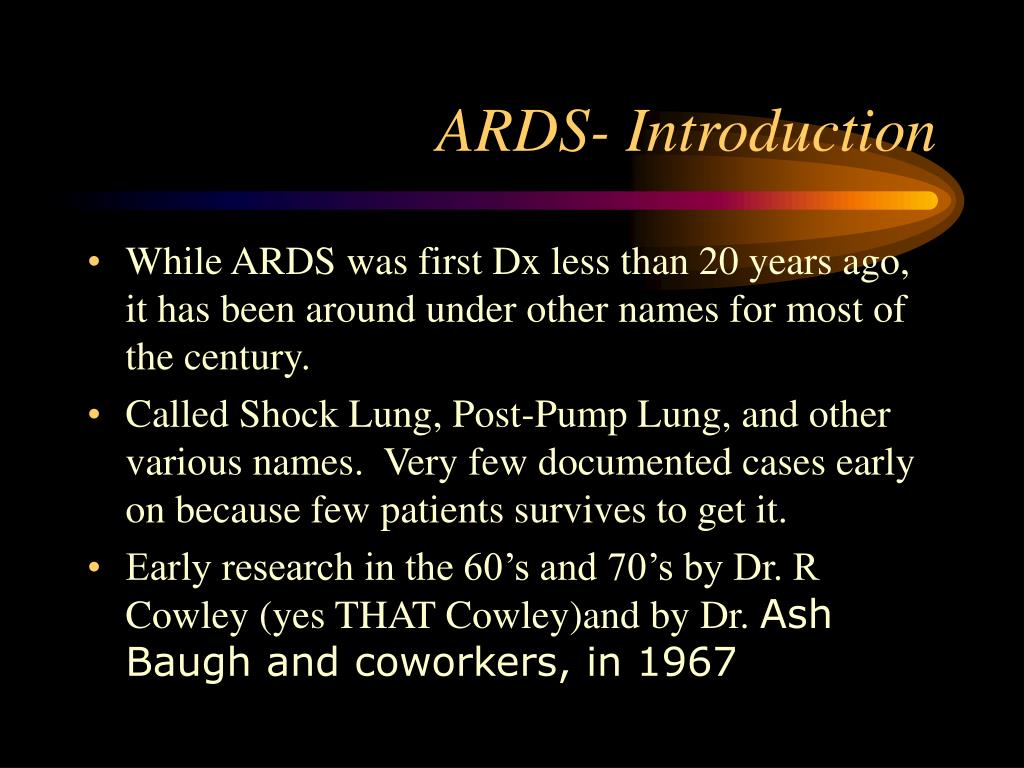 ARDS- Introduction