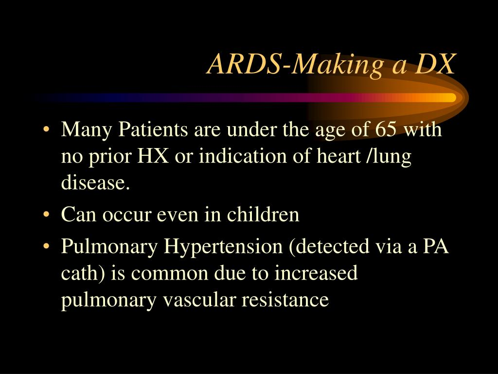 ARDS-Making a DX