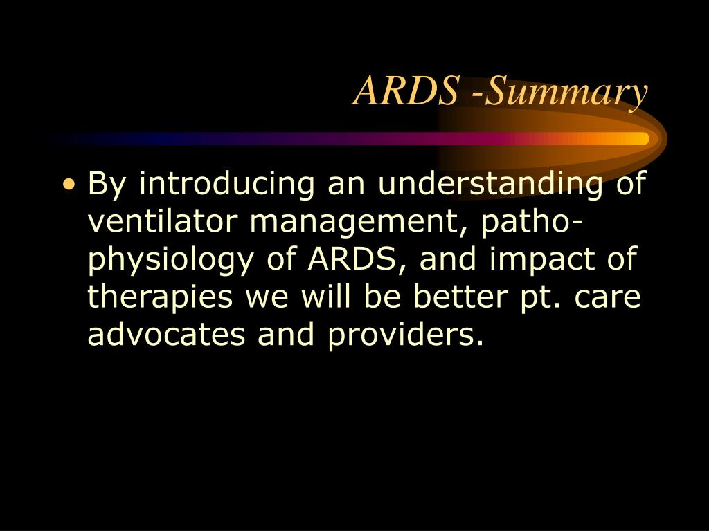 ARDS -Summary