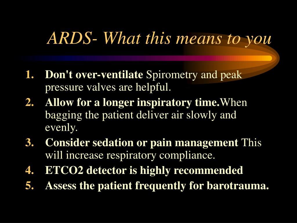 ARDS- What this means to you