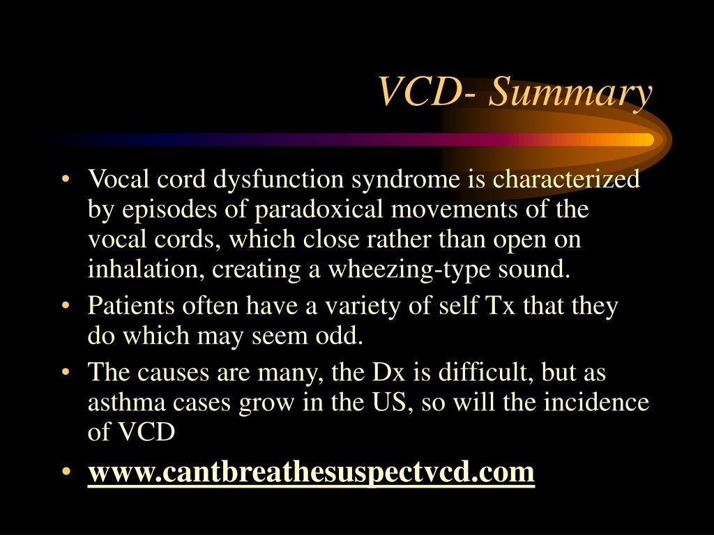 VCD- Summary
