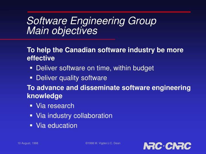 Software Engineering Group