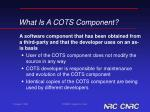 what is a cots component