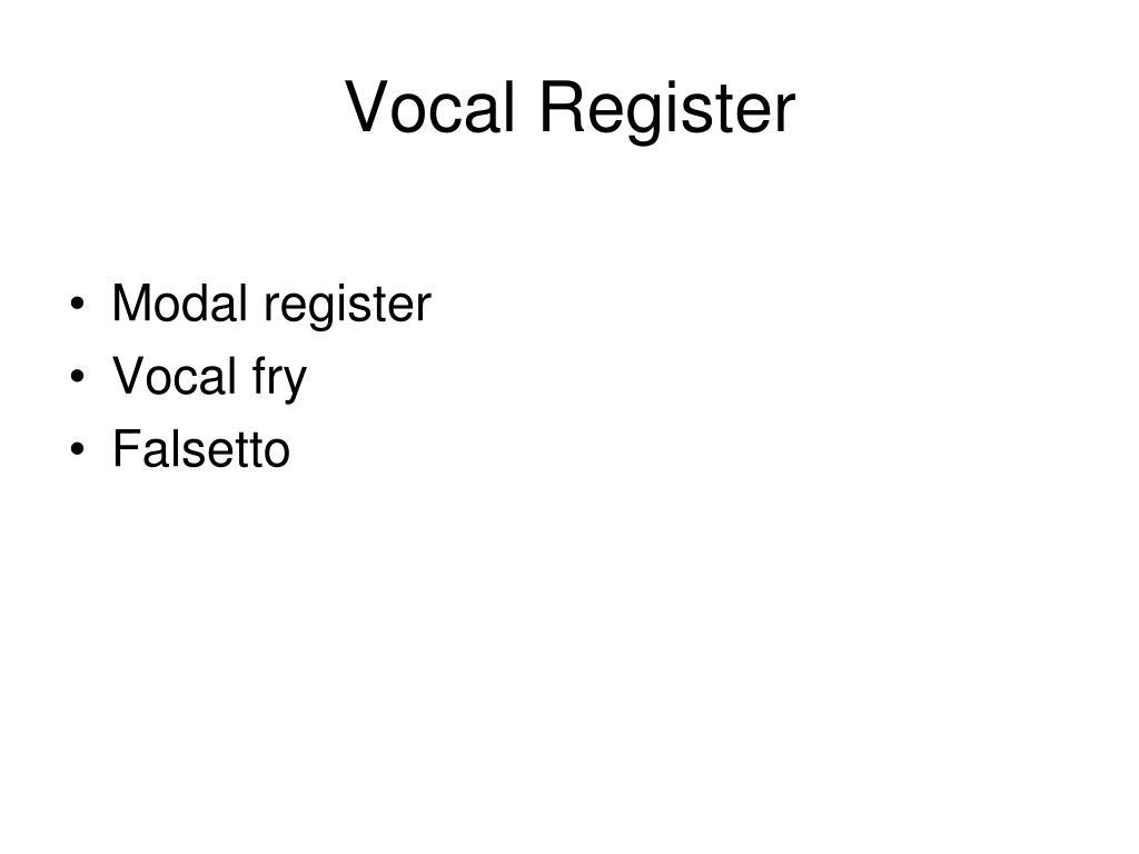 Vocal Register