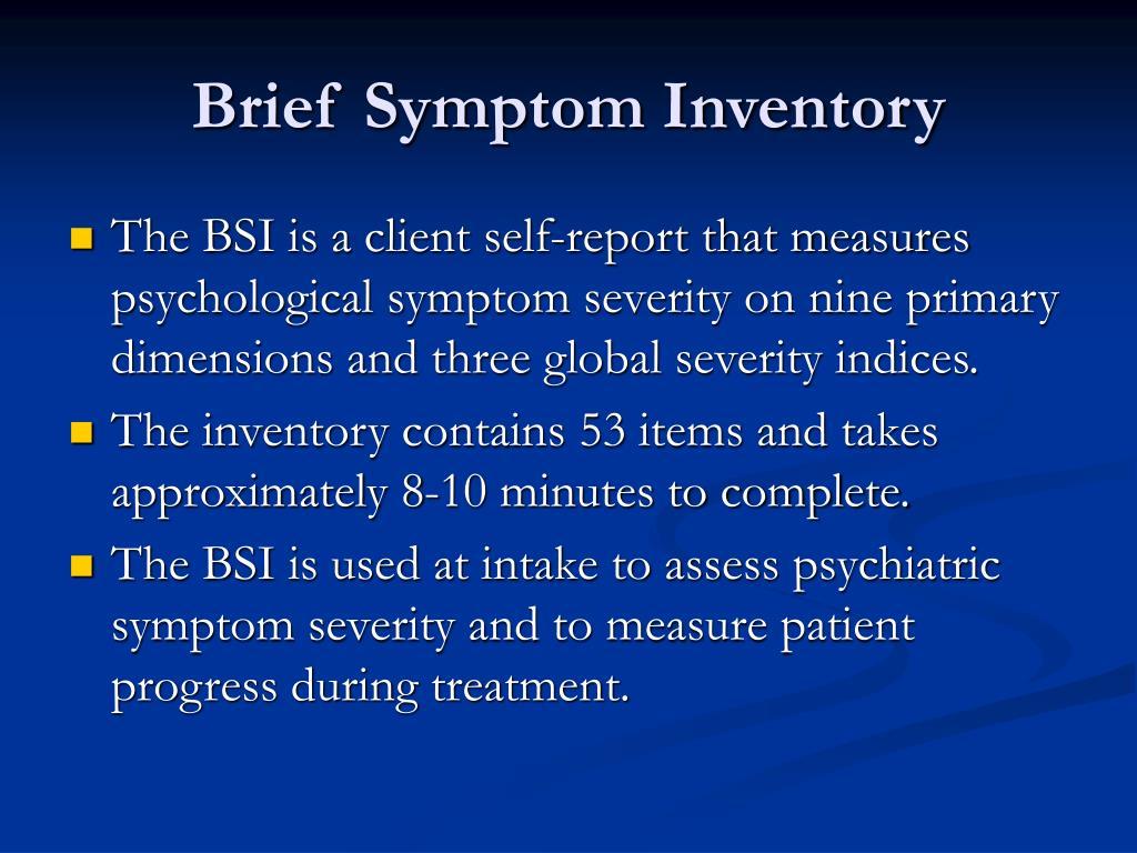 Brief Symptom Inventory