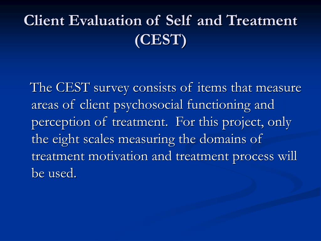 Client Evaluation of Self and Treatment