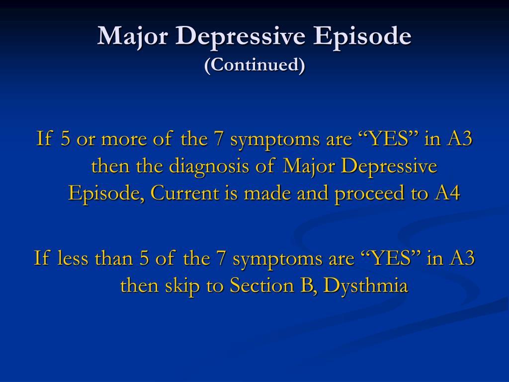 Major Depressive Episode