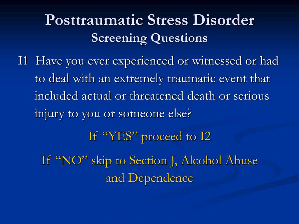 Posttraumatic Stress Disorder