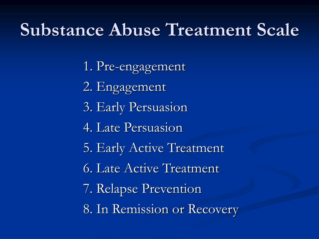 Substance Abuse Treatment Scale