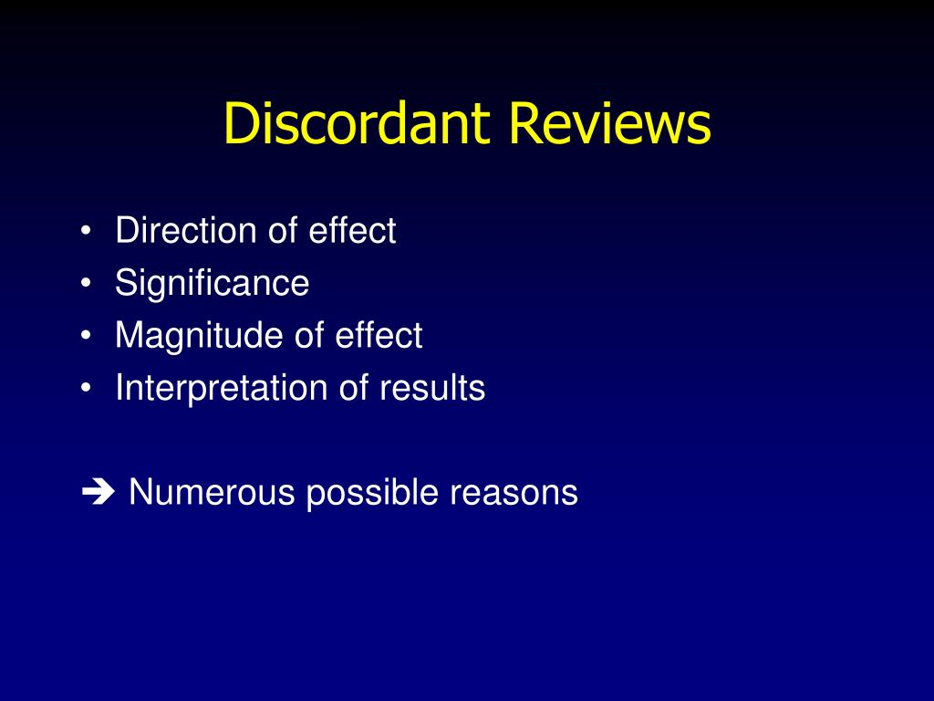 Discordant Reviews