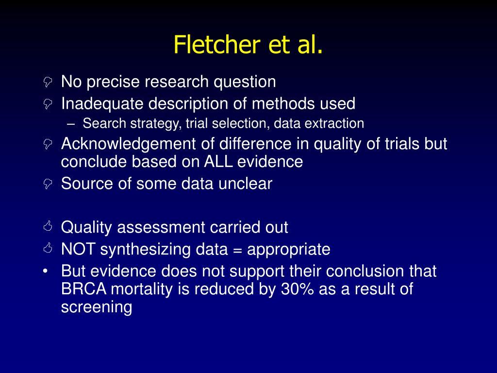 Fletcher et al.