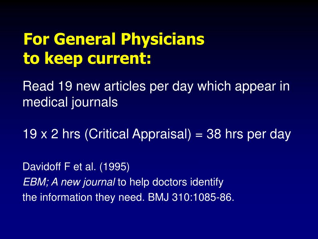 For General Physicians