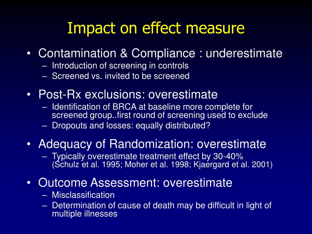 Impact on effect measure