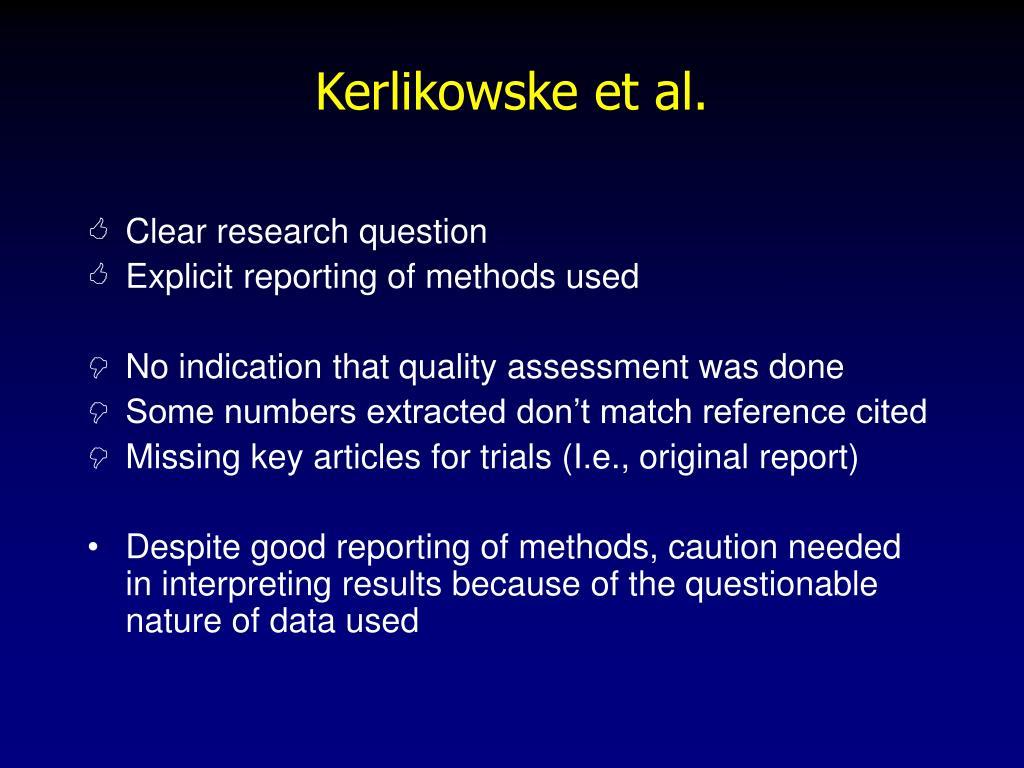 Kerlikowske et al.