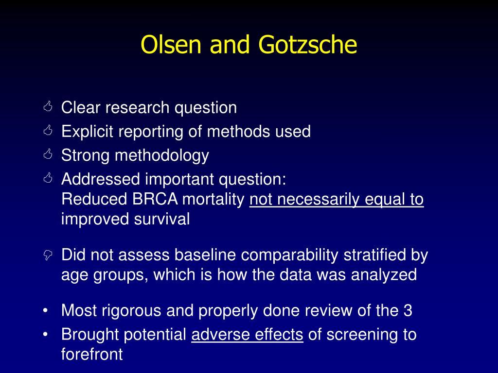 Olsen and Gotzsche