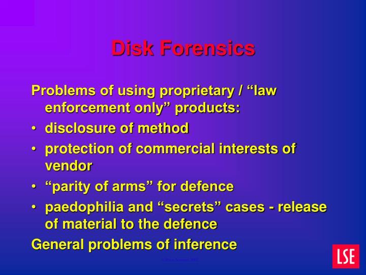 Disk Forensics