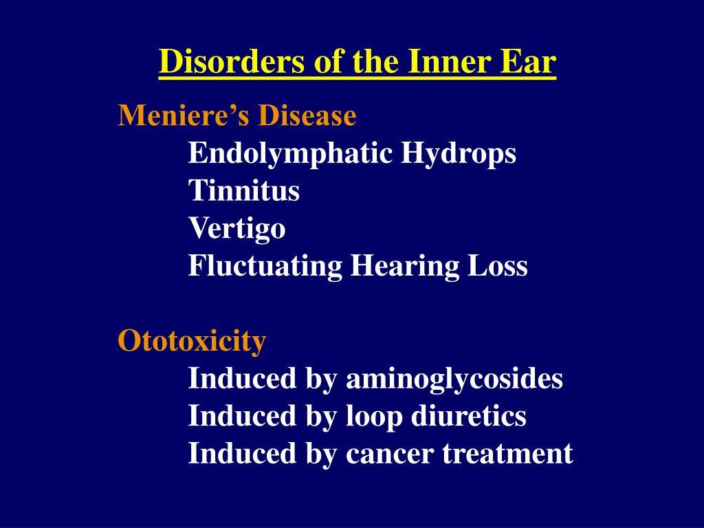 Disorders of the Inner Ear