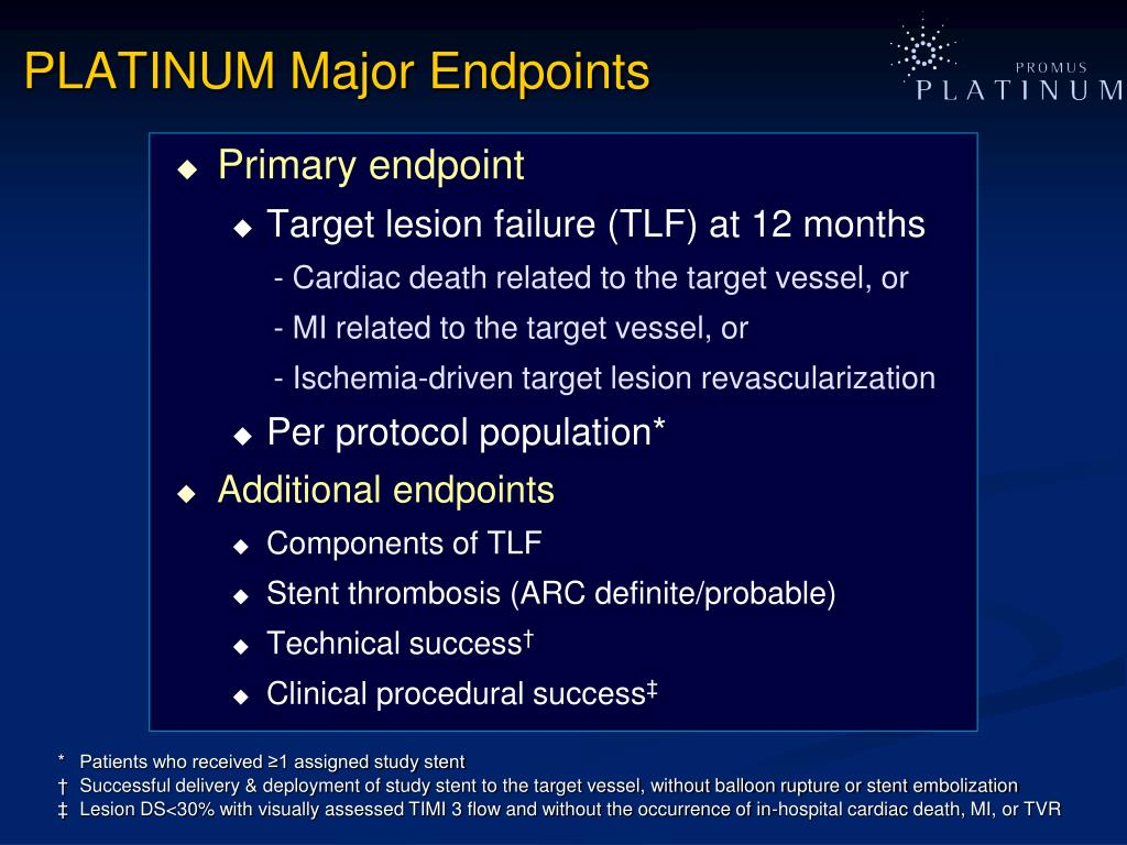 PLATINUM Major Endpoints